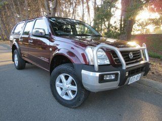 2005 Holden Rodeo RA MY05 LT Crew Cab Red 4 Speed Automatic Utility.