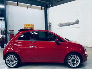 2013 Fiat 500C Series 1 Lounge Red 5 Speed Manual Convertible.