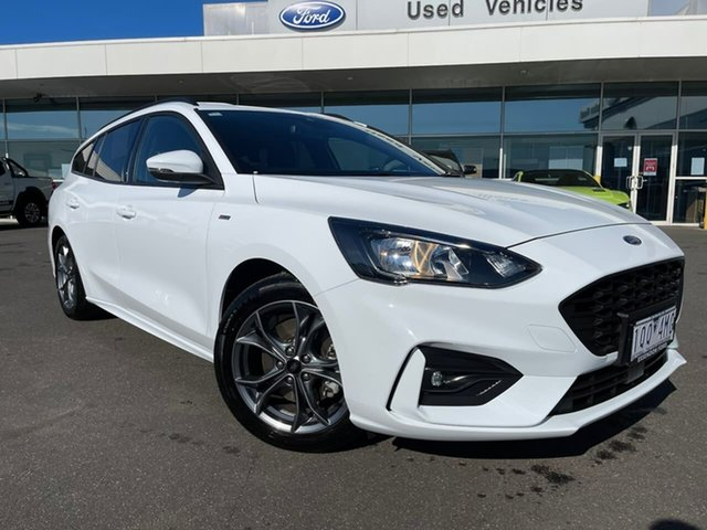 Used Ford Focus SA 2019.75MY ST-Line Essendon Fields, 2019 Ford Focus SA 2019.75MY ST-Line White 8 Speed Automatic Wagon