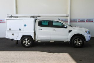 2013 Ford Ranger PX XLT 3.2 (4x4) White 6 Speed Automatic Double Cab Pick Up