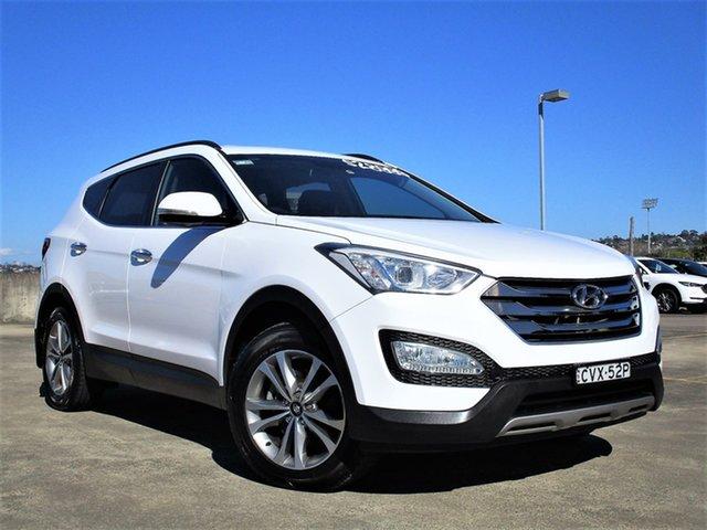 Used Hyundai Santa Fe DM MY14 Elite Brookvale, 2014 Hyundai Santa Fe DM MY14 Elite White 6 Speed Sports Automatic Wagon