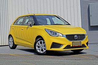 2021 MG MG3 SZP1 MY21 Core Yellow 4 Speed Automatic Hatchback.