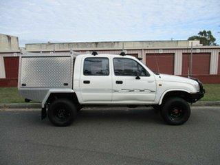 2000 Toyota Hilux LN167R White 5 Speed Manual Utility.