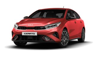 2021 Kia Cerato BD MY22 GT DCT Runway Red 7 Speed Sports Automatic Dual Clutch Hatchback
