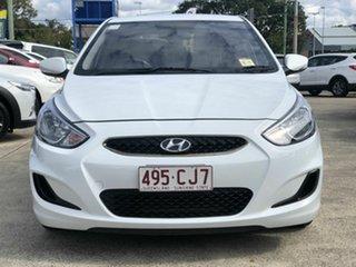 2018 Hyundai Accent RB6 MY19 Sport White 6 Speed Sports Automatic Sedan.