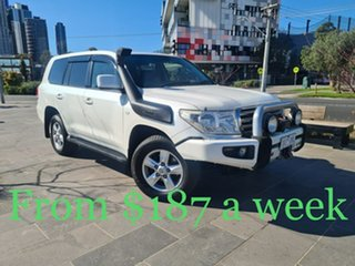 2009 Toyota Landcruiser VDJ200R MY10 Sahara White 6 Speed Sports Automatic Wagon.
