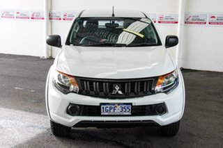 2018 Mitsubishi Triton MR MY19 GLX (4x4) White 6 Speed Automatic Cab Chassis.