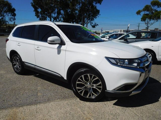 Used Mitsubishi Outlander ZK MY17 LS 4WD Safety Pack Wangara, 2016 Mitsubishi Outlander ZK MY17 LS 4WD Safety Pack White 6 Speed Sports Automatic Wagon