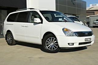 2013 Kia Grand Carnival VQ MY13 Platinum White 6 Speed Sports Automatic Wagon.