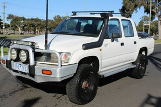 2002 Toyota Hilux LN167R MY02 White 5 Speed Manual Utility.