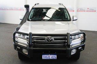 2017 Toyota Landcruiser VDJ200R MY16 Sahara (4x4) Silver Pearl 6 Speed Automatic Wagon.