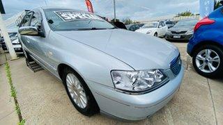 2005 Ford Fairlane BA Mk II Ghia Silver 4 Speed Sports Automatic Sedan.