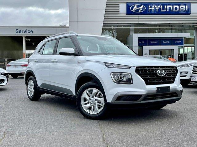 New Hyundai Venue QX.V3 MY21 South Melbourne, 2021 Hyundai Venue QX.V3 MY21 Polar White 6 Speed Automatic Wagon