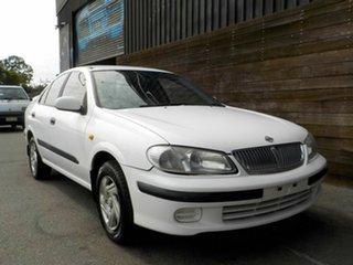 2000 Nissan Pulsar N16 LX White 4 Speed Automatic Sedan.