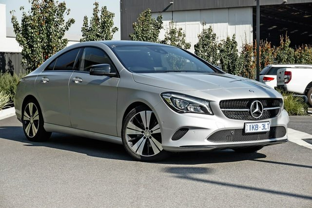 Used Mercedes-Benz CLA-Class C117 807MY CLA200 DCT Essendon Fields, 2016 Mercedes-Benz CLA-Class C117 807MY CLA200 DCT Silver 7 Speed Sports Automatic Dual Clutch Coupe