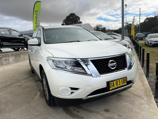 Used Nissan Pathfinder ST Goulburn, 2015 Nissan Pathfinder ST White Constant Variable Wagon