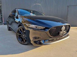 2021 Mazda 3 BP2HLA G25 SKYACTIV-Drive Astina Jet Black 6 Speed Sports Automatic Hatchback.