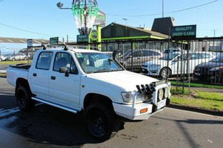 2002 Toyota Hilux LN167R MY02 White 5 Speed Manual Utility