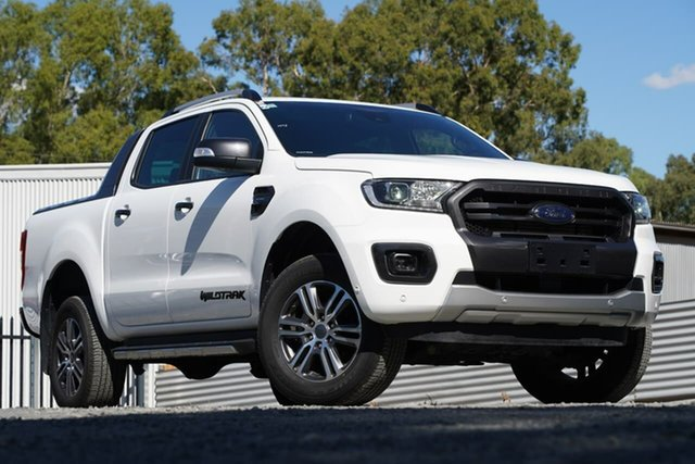 Used Ford Ranger PX MkIII 2020.25MY Wildtrak Clare, 2020 Ford Ranger PX MkIII 2020.25MY Wildtrak White 10 Speed Sports Automatic Double Cab Pick Up