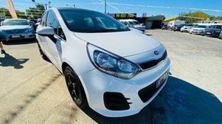 2015 Kia Rio UB MY15 S White 4 Speed Sports Automatic Hatchback.