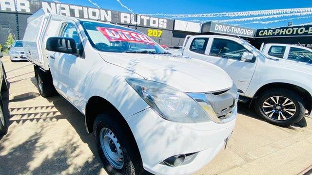 Used Mazda BT-50 UP0YD1 XT 4x2 Hi-Rider Maidstone, 2015 Mazda BT-50 UP0YD1 XT 4x2 Hi-Rider White 6 Speed Sports Automatic Cab Chassis