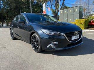 2016 Mazda 3 BM5438 SP25 SKYACTIV-Drive Astina Black 6 Speed Sports Automatic Hatchback.