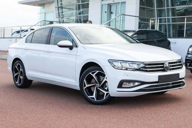 Demo Volkswagen Passat 3C (B8) MY21 140TSI DSG Business Wangara, 2021 Volkswagen Passat 3C (B8) MY21 140TSI DSG Business Pure White 7 Speed