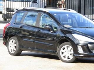 2008 Peugeot 308 T7 XSE Touring 8 Ball Black 4 Speed Sports Automatic Wagon.