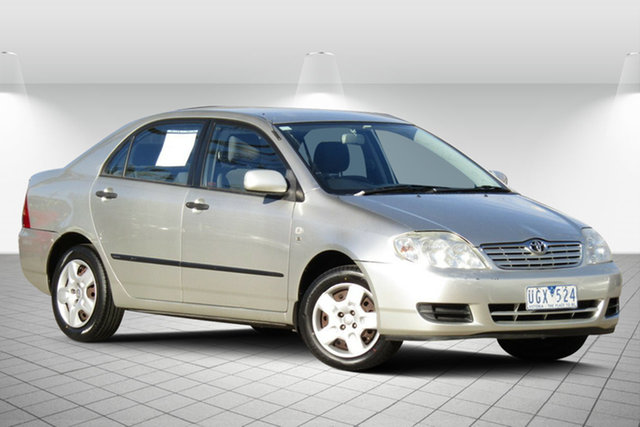Used Toyota Corolla ZZE122R 5Y Ascent Oakleigh South, 2006 Toyota Corolla ZZE122R 5Y Ascent Adventurine Silver 4 Speed Automatic Sedan