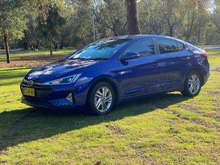 2018 Hyundai Elantra AD.2 MY19 Active Blue 6 Speed Sports Automatic Sedan.