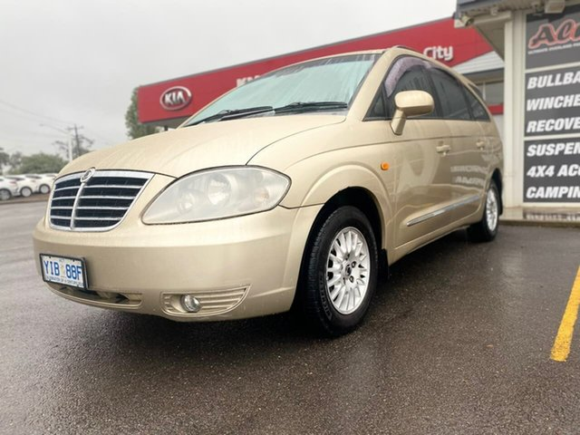 Used Ssangyong Stavic Sports Goulburn, 2007 Ssangyong Stavic Sports Gold Sports Automatic Wagon