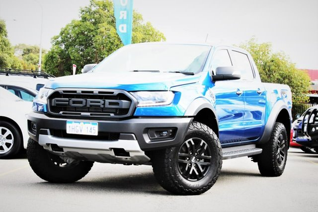 Used Ford Ranger PX MkIII 2019.75MY Raptor Midland, 2019 Ford Ranger PX MkIII 2019.75MY Raptor Blue 10 Speed Sports Automatic Double Cab Pick Up