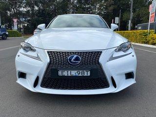2015 Lexus IS AVE30R IS300h F Sport White 1 Speed Constant Variable Sedan Hybrid.