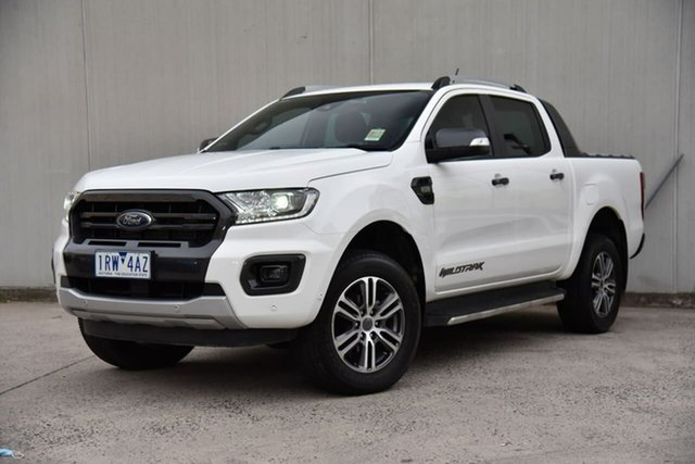 Used Ford Ranger PX MkIII 2020.75MY Wildtrak Oakleigh, 2020 Ford Ranger PX MkIII 2020.75MY Wildtrak White 6 Speed Sports Automatic Double Cab Pick Up
