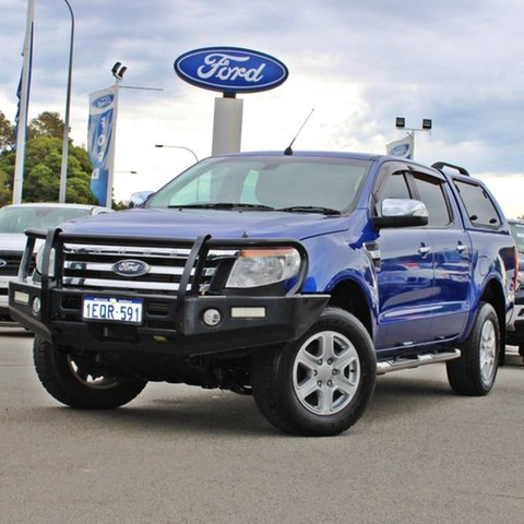 Used Ford Ranger PX XLT Double Cab Midland, 2014 Ford Ranger PX XLT Double Cab Blue 6 Speed Sports Automatic Utility