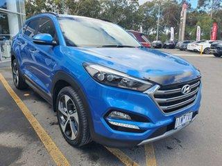 2016 Hyundai Tucson TLe MY17 Highlander D-CT AWD Blue 7 Speed Sports Automatic Dual Clutch Wagon.