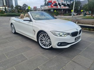 2014 BMW 4 Series F33 420i Luxury Line White 8 Speed Sports Automatic Convertible.
