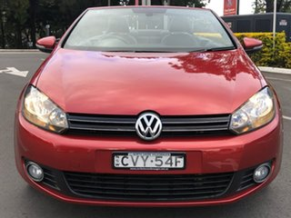 2014 Volkswagen Golf VI MY15 118TSI DSG Red 7 Speed Sports Automatic Dual Clutch Cabriolet.