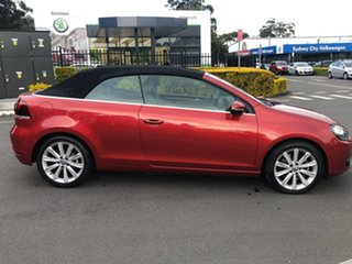 2014 Volkswagen Golf VI MY15 118TSI DSG Red 7 Speed Sports Automatic Dual Clutch Cabriolet