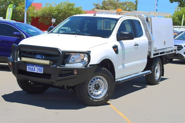Used Ford Ranger PX XL Midland, 2015 Ford Ranger PX XL White 6 Speed Manual Cab Chassis