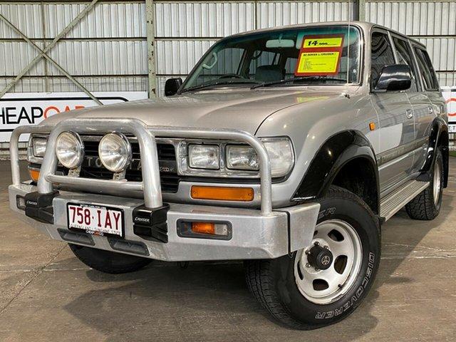 Used Toyota Landcruiser FZJ80R GXL Rocklea, 1993 Toyota Landcruiser FZJ80R GXL Silver 4 Speed Automatic Wagon
