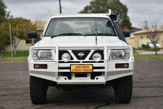 1999 Nissan Patrol GU DX White 5 Speed Manual Cab Chassis.