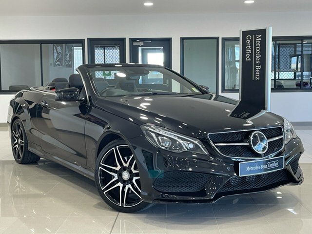 Used Mercedes-Benz E-Class A207 806MY E250 7G-Tronic + Hervey Bay, 2015 Mercedes-Benz E-Class A207 806MY E250 7G-Tronic + Black 7 Speed Sports Automatic Cabriolet