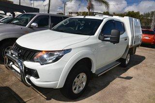 2018 Mitsubishi Triton MQ MY18 GLX (4x4) White 6 Speed Manual Dual Cab Utility.