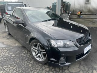 2010 Holden Commodore VE II SV6 Black 6 Speed Automatic Utility.