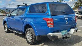 2016 Mitsubishi Triton MQ MY16 GLS Double Cab Blue 5 Speed Sports Automatic Utility.