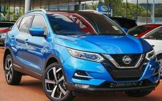 2021 Nissan Qashqai MY20 TI Vivid Blue Continuous Variable Wagon.