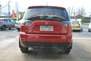2008 Mitsubishi Outlander ZG MY08 VR-X (7 Seat) Red 6 Speed Auto Sports Mode Wagon