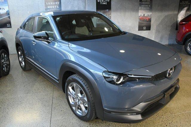 New Mazda MX-30 M30A G20e Evolve Mhev Kirrawee, 2021 Mazda MX-30 M30A G20e Evolve Mhev Polymetal Grey 6 Speed Automatic Wagon