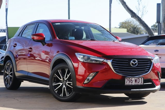 Used Mazda CX-3 DK2W7A sTouring SKYACTIV-Drive Toowoomba, 2015 Mazda CX-3 DK2W7A sTouring SKYACTIV-Drive Red 6 Speed Sports Automatic Wagon